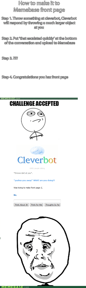 Even Cleverbot Wants You to Stop