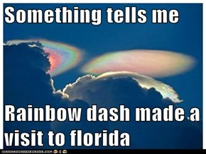 Something tells me   Rainbow dash made a visit to florida