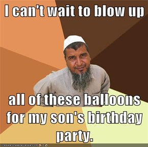 I can't wait to blow up  all of these balloons for my son's birthday party.