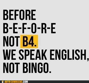 ENGLISH, DO YOU SPEAK IT?