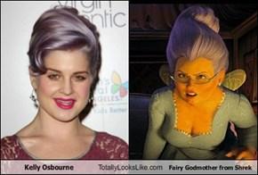 Kelly Osbourne Totally Looks Like Fairy Godmother from Shrek