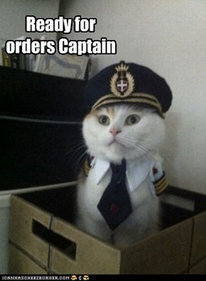 Ready for orders Captain