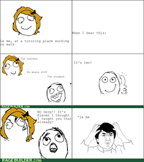 Stupid teacher rage.