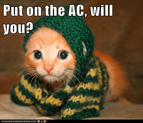 Put on the AC, will you?