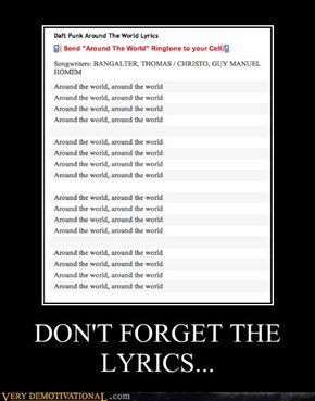 DON'T FORGET THE LYRICS...