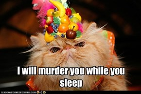 I will murder you while you sleep