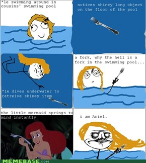 I am the little mermaid.