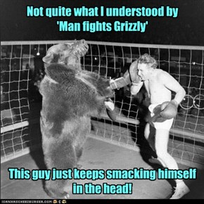 At least he can say the bear never laid a glove on him!