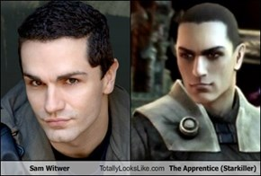 Sam Witwer Totally Looks Like The Apprentice (Starkiller)