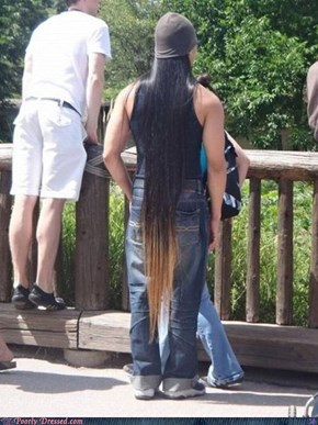 Why Does Your Hair Turn Brown Near Your Ass?