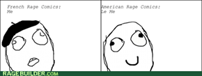 The Difference Between French & American Rage Comics