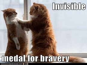 Invisible  medal for bravery