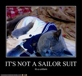 IT'S NOT A SAILOR SUIT