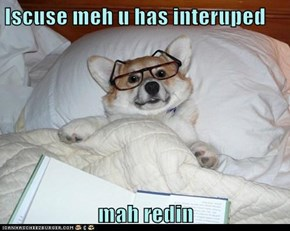 Iscuse meh u has interuped   mah redin