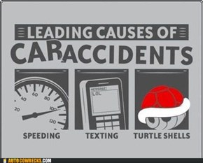If You're Texting and Driving, You Can't Dodge the Red Shells