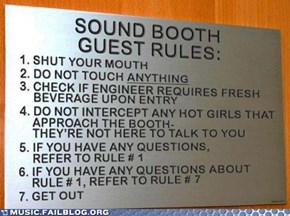 Sound Booth Rules