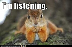Frasier Squirrel is Listening