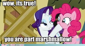 pinkie approves of marshmallow rarity