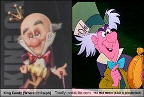 King Candy (Wreck-It-Ralph) Totally Looks Like The Mad Hatter (Alice in Wonderland)