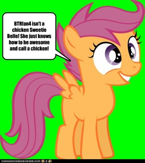 BTRfan4 is almost as awesome as rainow dash: scootaloo approoves
