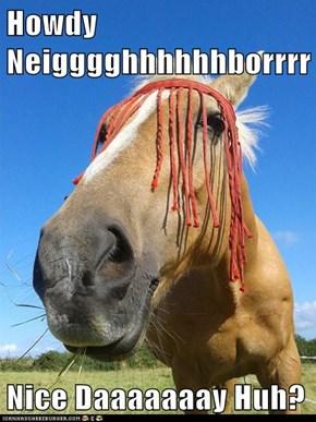 Howdy Neigggghhhhhhborrrr  Nice Daaaaaaay Huh?