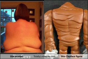 this woman Totally Looks Like this Clayface figure