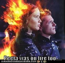 Peeta was on fire too.....