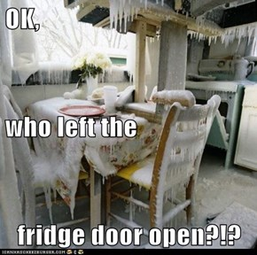 OK, who left the fridge door open?!?