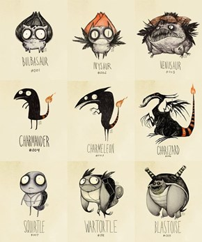 Tim Burton Style Pokemon
