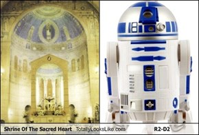 Shrine Of The Sacred Heart  Totally Looks Like R2-D2