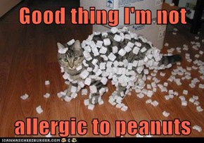 Good thing I'm not  allergic to peanuts