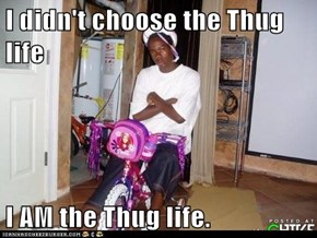 I didn't choose the Thug life  I AM the Thug life.