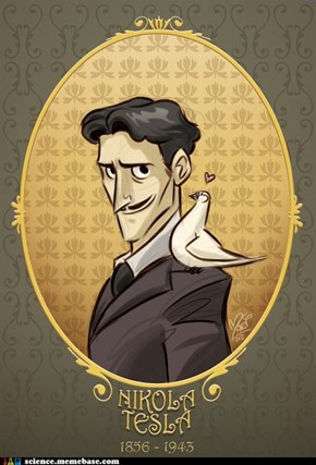 Cartoon Tesla
