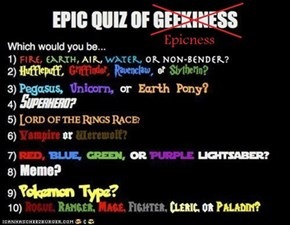 Epic quiz of epicness!