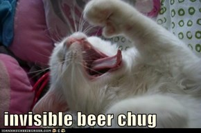 invisible beer chug