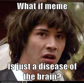 What if meme  Is just a disease of the brain?