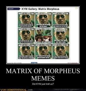MATRIX OF MORPHEUS MEMES