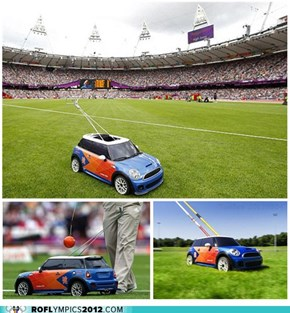 Mini R/C Mini Coopers to ferry javelins, discus in Olympics