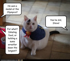 Kitty Wins a Medal