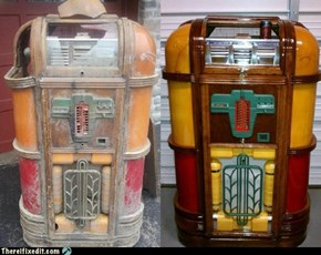 TIFI WIN: Man Restores 1939 Rockola Jukebox