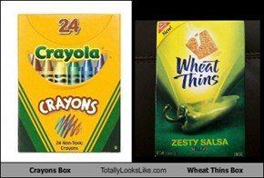 Crayons Box Totally Looks Like Wheat Thins Box