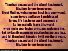 A Wiccan prayer for the time of crossing