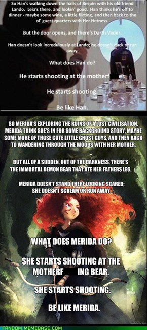 Be Like Merida.  Be Brave.