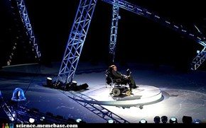 Stephen Hawking at the Paralympics Opening Ceremony