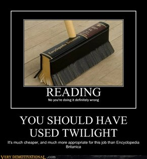 YOU SHOULD HAVE USED TWILIGHT