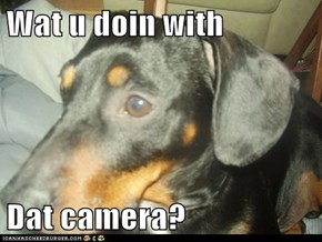 Wat u doin with  Dat camera?