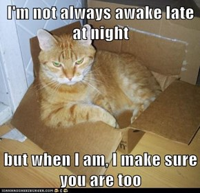 I'm not always awake late at night