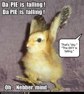Da  PIE  is  falling !    Da PIE  is  falling !