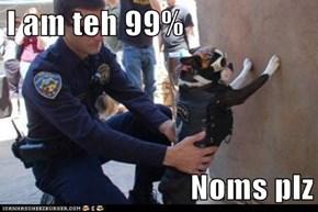 I am teh 99%  Noms plz