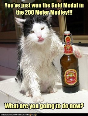Have a cold one and then go look for a blow-dryer, mate!